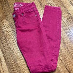 Express Zelda Hot Pink Ultra Low Rise Jeans